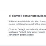 Sicuro che il Pixel Facebook sia correttamente installato sul tuo sito web?